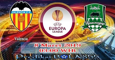 Prediksi Bola855 Valencia vs Krasnodar 8 Maret 2019