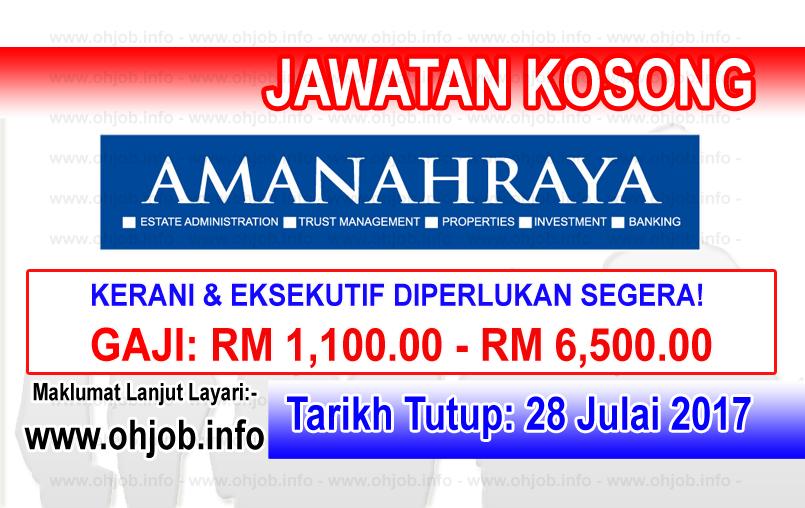 Jawatan Kerja Kosong Amanah Raya Berhad - ARB logo www.ohjob.info julai 2017