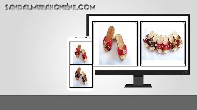 Wedges CS CPC Wanita - Bengkel Sandal Imitasi Kulit Tasikmalaya