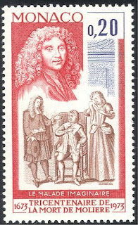 Monaco Famous French Playwriter Moliere stamp