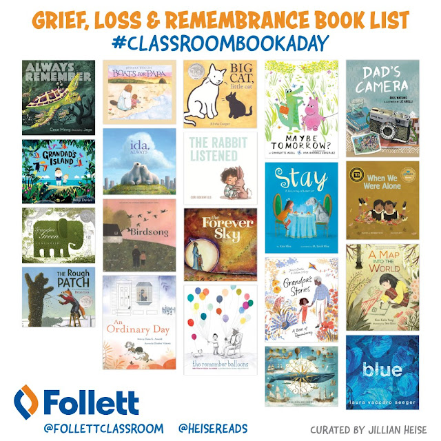 #ClassroomBookADay Recommendations: Grief, Loss, & Remembrance