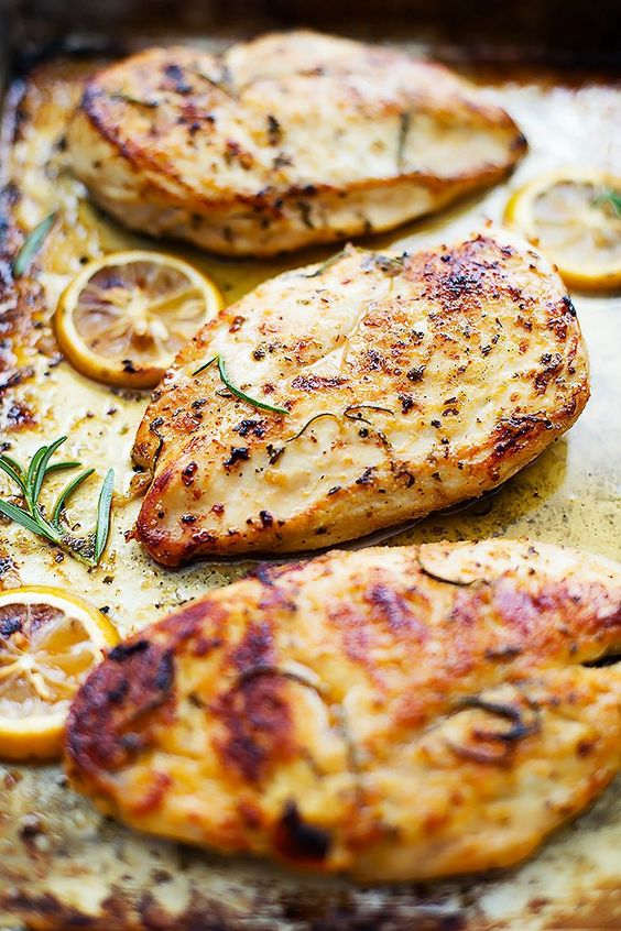 Easy Healthy Baked Lemon Chicken #Easy #Healthy #baked #Lemon #chicken #Dinner #Simplerecipe