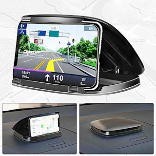 Mobile Phone Holder for Car Dashboard GPS Vehicle Mount Universal car Mobile Stand for All Smartphone, Specially Design for GPS Map Tracking, New 2021 Edition 5th Generation Car Holder. (Black)