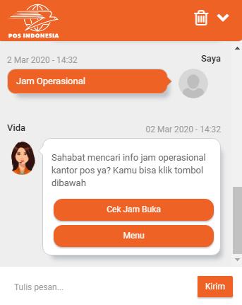 jam kerja pos indonesia