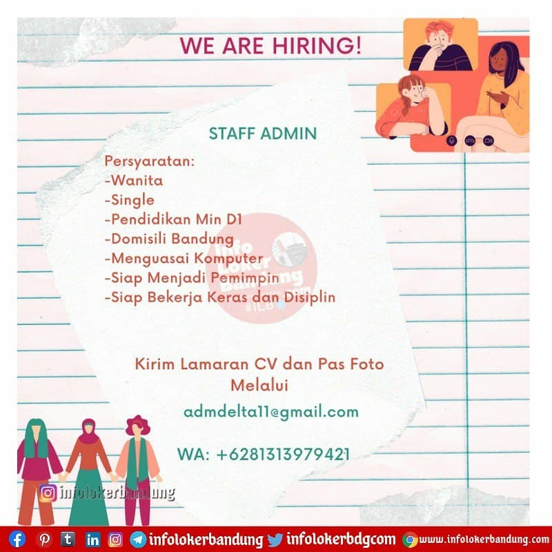 Lowongan Kerja Staff Admin CV. Arthagraha Bandung Mei 2021