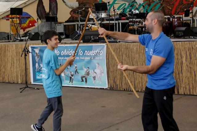 Fuerteventura.- Feaga 2019 : Las 4 escuelas insulares de Juego del Palo celebran una exhibición en la Feria de Agricultura, Ganadería y Pesca