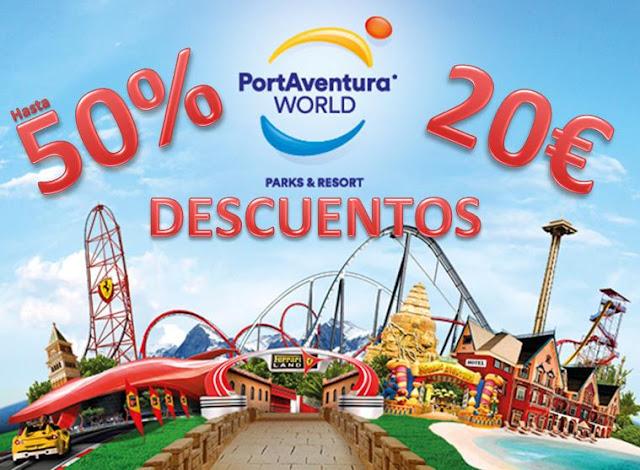 50% descuento 20€ portaventura park