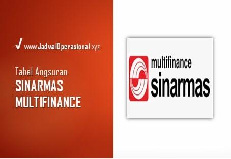 Tabel Angsuran Sinarmas Multifinance