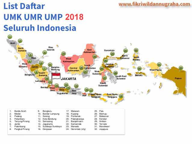 Daftar UMR UMK UMP 2018 Seluruh Indonesia