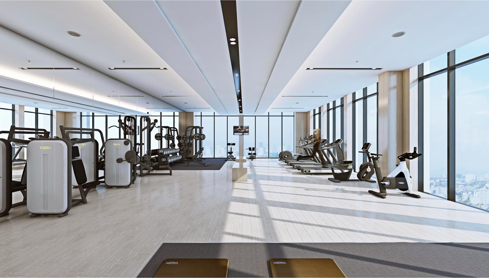 Phòng tập Gym hiện đại của Alphanam Luxury