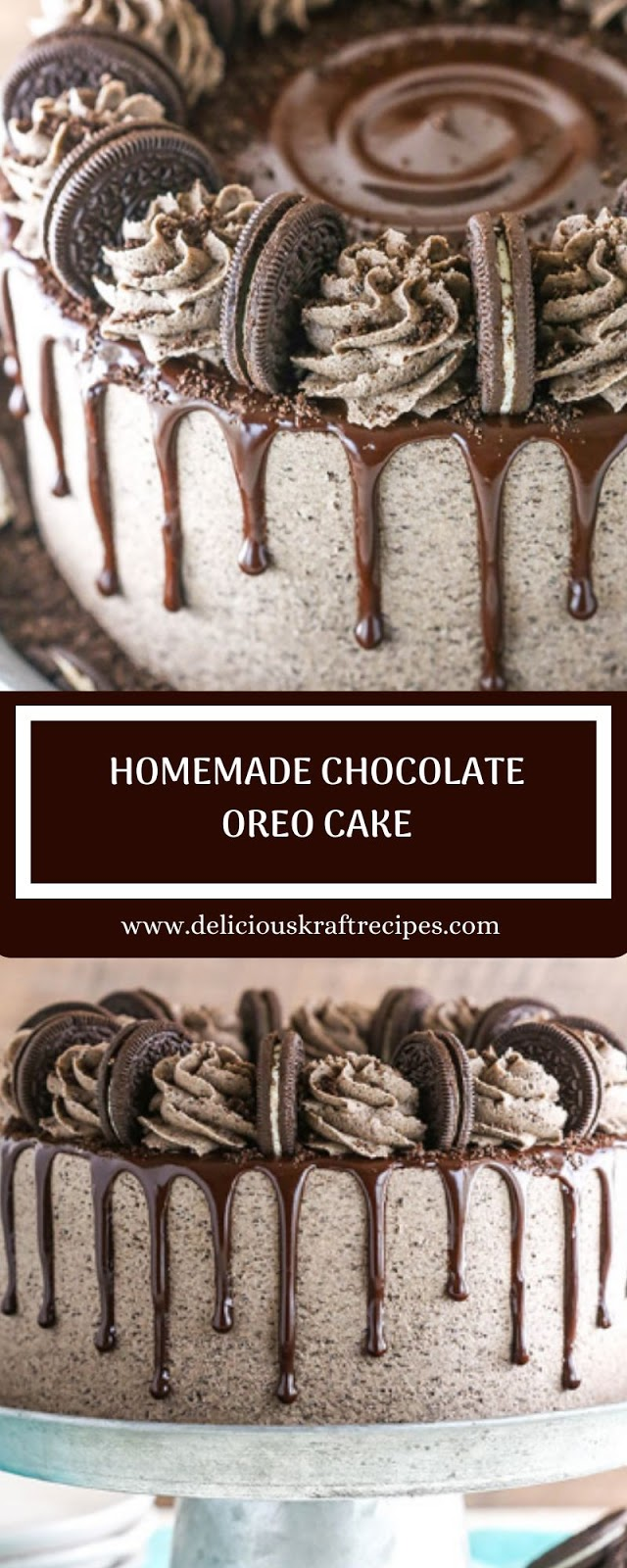 HOMEMADE CHOCOLATE OREO CAKE