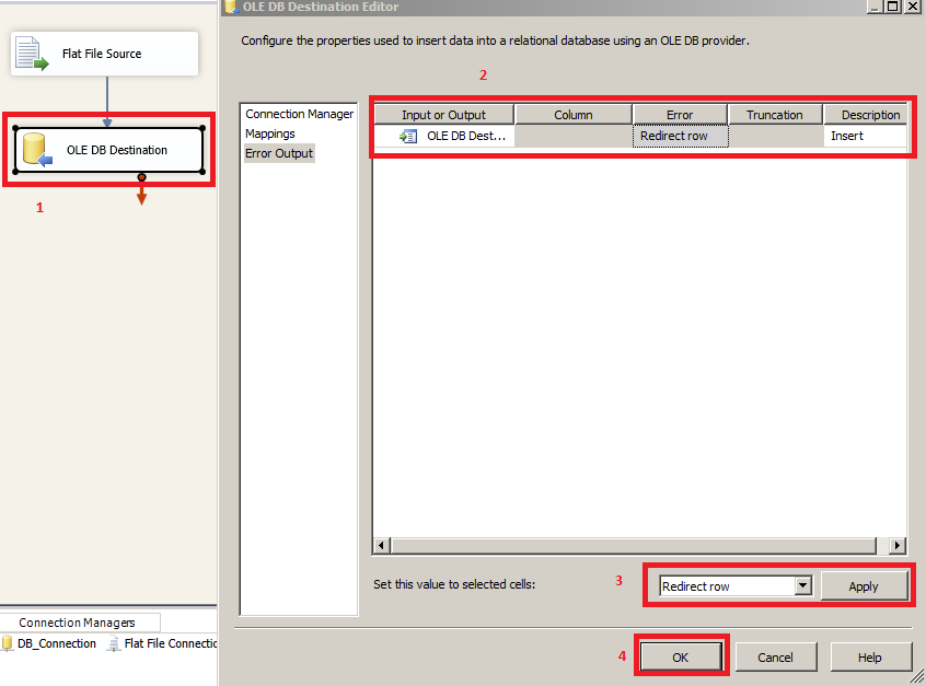 Welcome To TechBrothersIT: SSIS - How To Redirect Rows From OLE DB