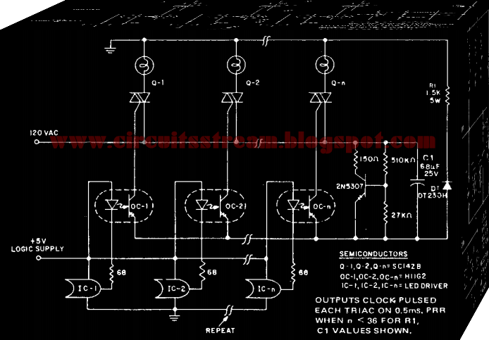 Microprocessor Triac Dimmable Driver ircuit Diagram