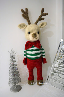 free christmas crochet patterns-crochet reindeer