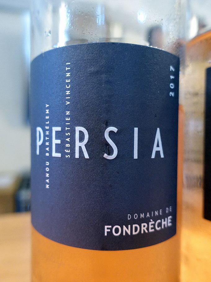 Domaine de Fondrèche Persia Rosé 2017 (88 pts)