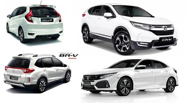 Daftar Harga Mobil Honda Terbaru Tahun 2020 ( SUV,MPV,SEDAN,HATCBACK,CITY CAR)