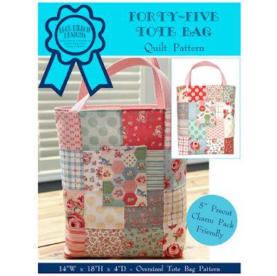 Forty-Five Tote Bag ©Copyright 2021 Belinda Karls-Nace/Blue Ribbon Designs, LLC http://www.blueribbondesigns.blogspot.com