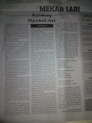 """Artikel Berbahasa Jawa Adhiluhung """"Nyetel Ati) Karya Rita Nuryanti Kenya Giri Seta"""