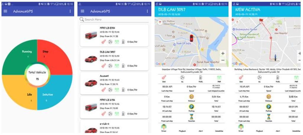 tampilan preview aplikasi GPS Advance