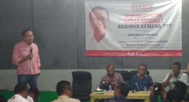 RR: Kalau Prabowo atau Saya Jadi Presiden, Kita Potong Utang Luar Negeri