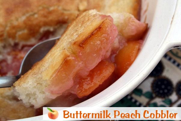 Buttermilk Peach Cobbler