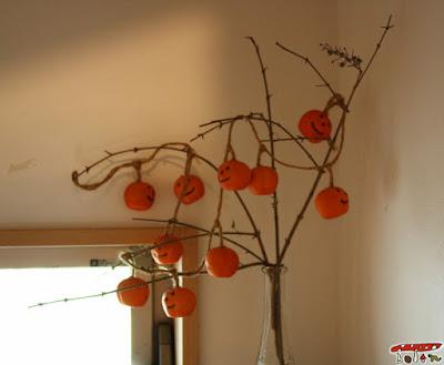 ハロウィン枝飾り