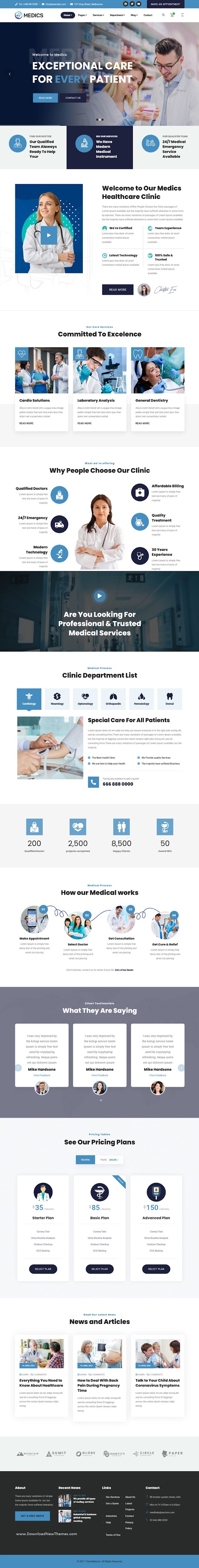 Healthcare HTML Template