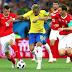 Brasil empató 1-1 ante Suiza
