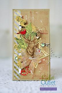 holiday chocolate box by Marina Gridasova @akonitt #chocolatebox #brads #washitape #by_marina_gridasova #eyeletoutlet #stickybling #holidaybox