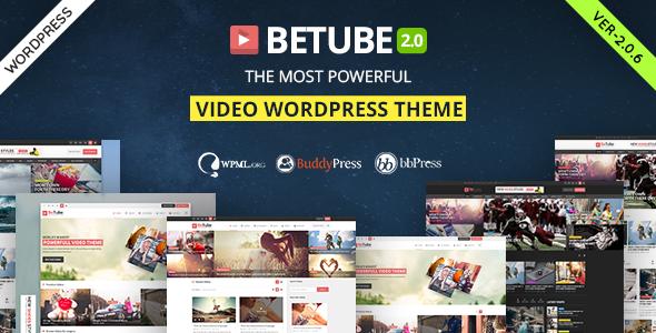 Betube v2.0.6 – Video WordPress Theme