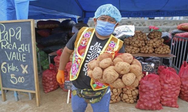 Minagri promueve comercio de 120 toneladas de papa de productores de zonas rurales