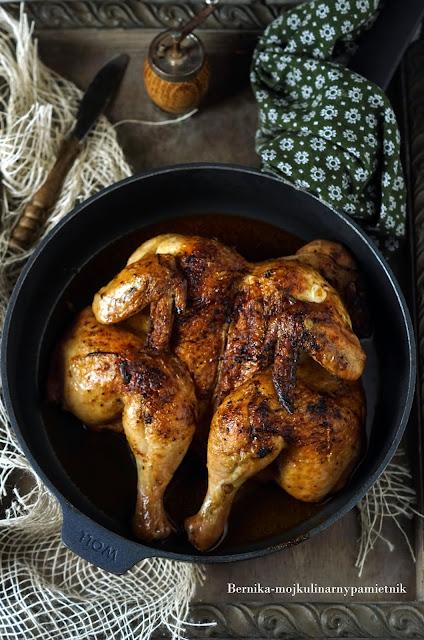 kurczak, drob, patelnia, obiad, diavola, bernika, kulinarny pamietnik