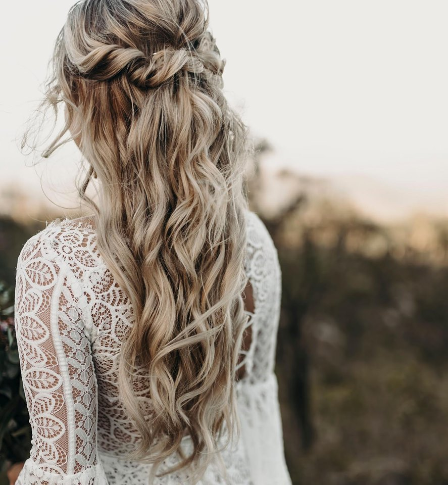 boho wedding hair townsville kacey maree photography hairstylist bridal