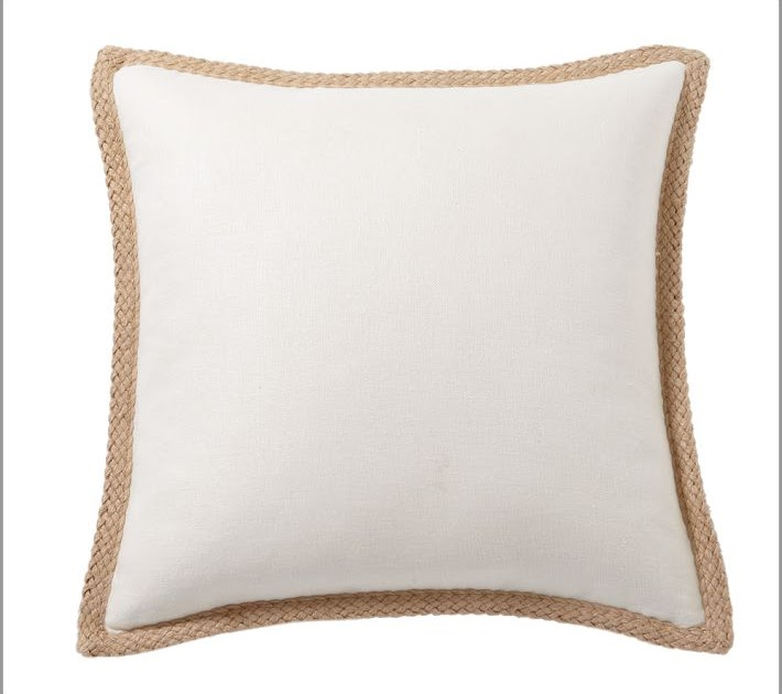 TDA decorating and design DIY Pottery Barn Jute Braid Pillow Look