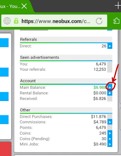 Cara mudah Withdraw atau mencairkan saldo Neobux ke Akun Rekening Online