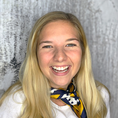 headshot of TBH Creative's Kennedy Smith, web and marketing assistant
