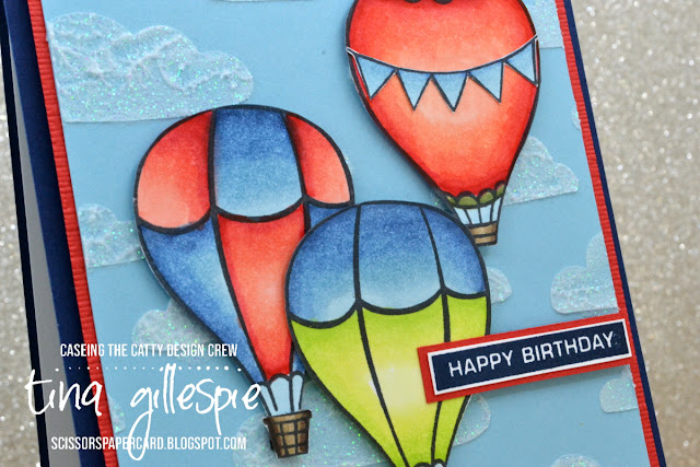 scissorspapercard, Stampin' Up!, CASEing The Catty, Above The Clouds, Label Me Bold, Seaside Notions, Shimmery Embossing Paste, Pattern Party Masks, Stampin' Blends, Copics, Subtle 3D EF