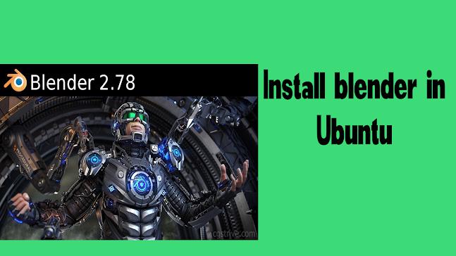 Install-blender- in-ubuntu-latest-2021