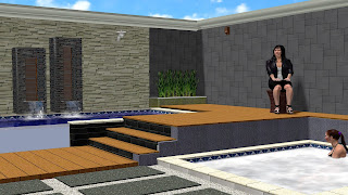 Taman dan kolam renang minimalis belakang rumah jasataman co id