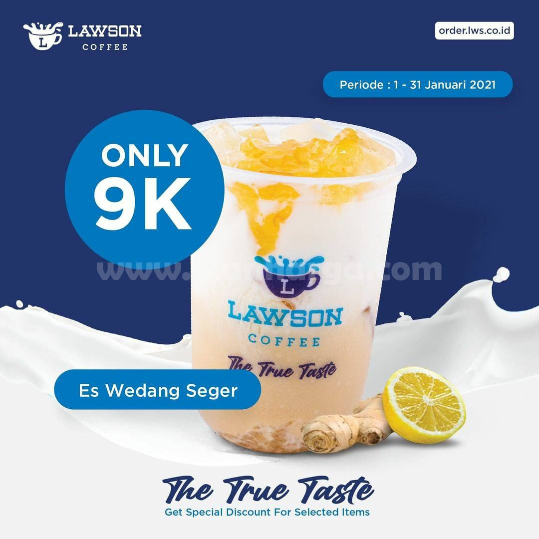 LAWSON Promo ES WEDANG SEGAR harga cuma Rp 9.000,-