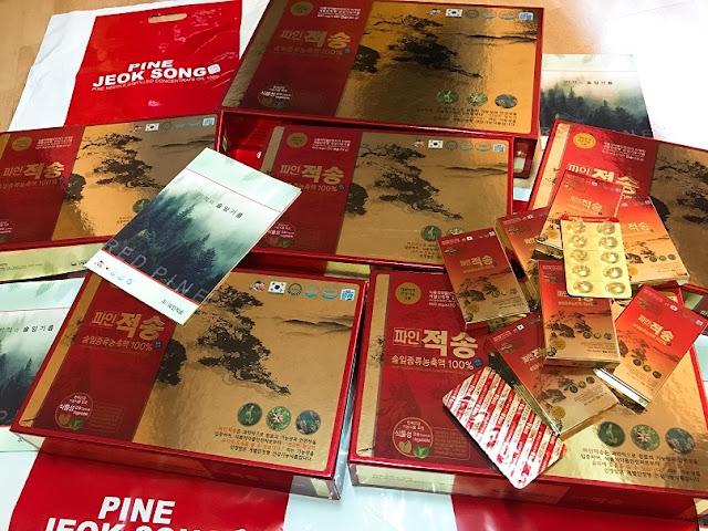 Tinh dầu thông đỏ Pine jeok song Gold cao cấp 120 viên