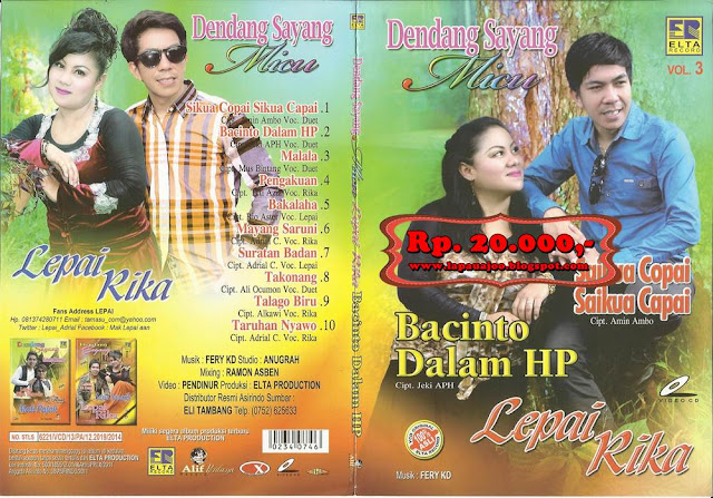 Lepai & Rika Sumalia - Bacinto Dalam HP (Album Dendang Sayang Vol 3)