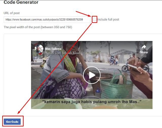 Cara Memasukkan Video Facebook ke Postingan Blog
