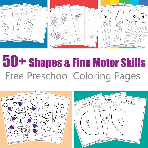 50+ Shapes & Fine Motor Skills Activities