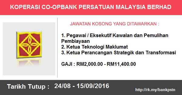 Jawatan Kosong di Koperasi Co-opbank Persatuan Malaysia Bhd