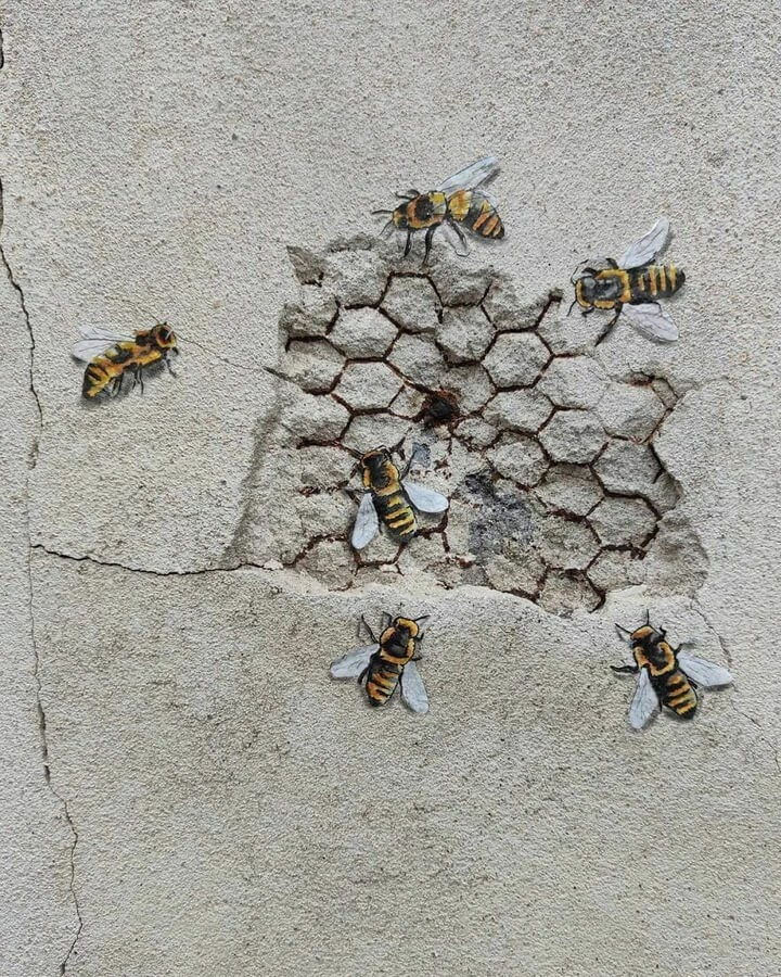 06-Honeycomb-and-bees-Oakoak-www-designstack-co