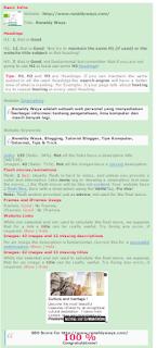 Cara Mengetahui Nilai SEO Blog / Website Melalui Chkme