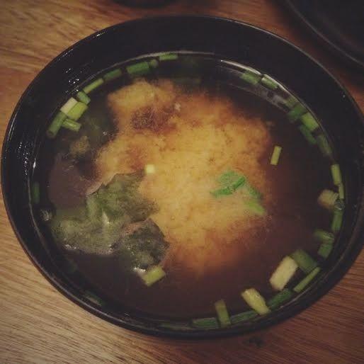 Crazy Katsu's miso soup