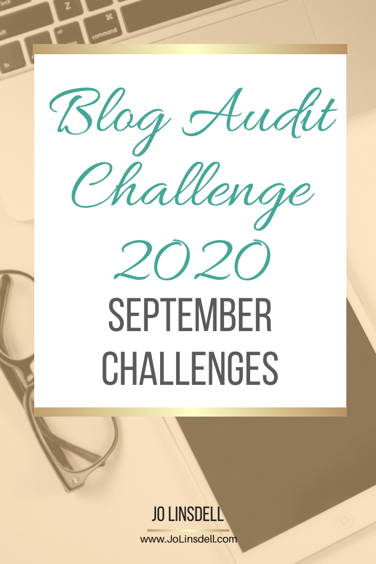 Blog Audit Challenge 2020: September Challenges #BlogAuditChallenge2020
