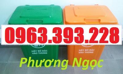 Thùng rác nhựa 90L nắp kín, thùng rác 90 Lít công cộng, thùng rác nắp kín TR90LNK5